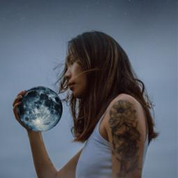 freetoedit moon goddess